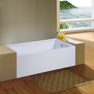 Eviva Nova Alcove 60 in. Acrylic Bathtub with Right Hand Drain - N/A
