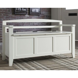 Charvanna Vinatage Casual White Storage Bench