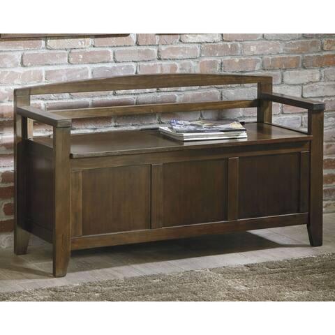 Charvanna Vintage Casual Dark Brown Storage Bench