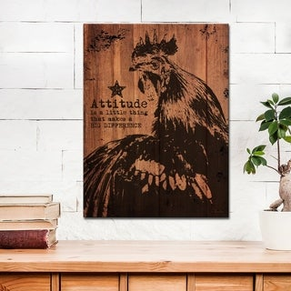 Ready2HangArt Farmhouse 'Rooster' Wrapped Canvas Animal Wall Art - Brown