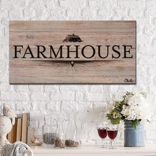 Ready2HangArt Rustic 'Farmhouse I' Wrapped Canvas Textual Wall Art - Brown