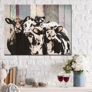 Ready2HangArt Farmhouse 'Cattle' Wrapped Canvas Animal Wall Art