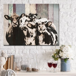 Ready2HangArt Farmhouse 'Cattle' Wrapped Canvas Animal Wall Art - Multi-color