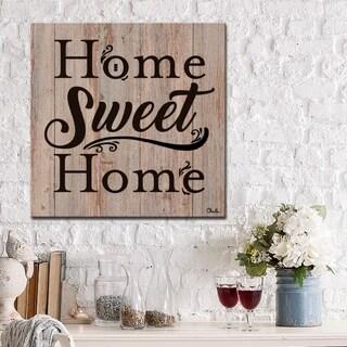 Ready2HangArt Farmhouse 'Home' Wrapped Canvas Textual Wall Art - Brown