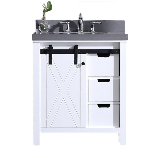 Dallas Bathroom Vanities: Shop Eviva Dallas White Wood Finish 36-inch Bathroom