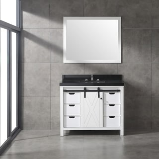Eviva Dallas 42 in. White Bathroom Vanity