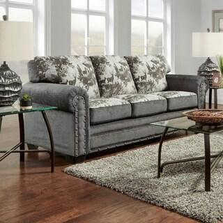 American Furniture Classics Elk River Grey Fabric/ Wood Lodge Sofa