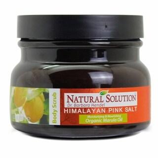 Natural Solution Himalayan Pink Salt 12.3-ounce Body Scrub Marula Oil