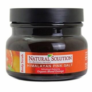 Natural Solution Himalayan Pink Salt 12.3-ounce Body Scrub Blood Orange