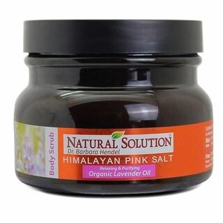 Natural Solution Himalayan Pink Salt Lavender 12.3-ounce Body Scrub