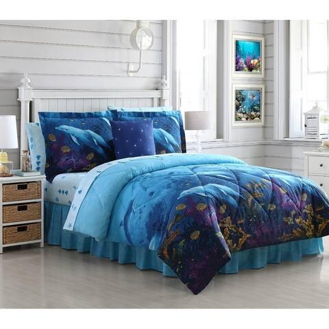 Lemon & Spice Ocean Cove Bed in a Bag Comforter Set
