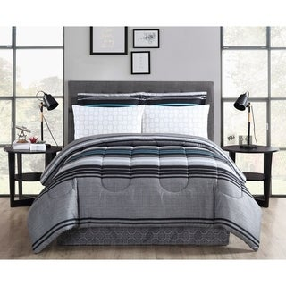 Reston Printed Bed In A Bag Comforter Set