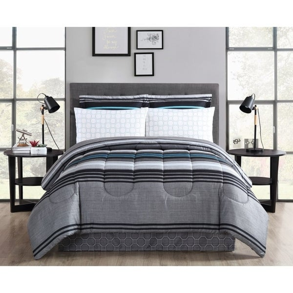 Reston Printed Bed In A Bag Comforter Set