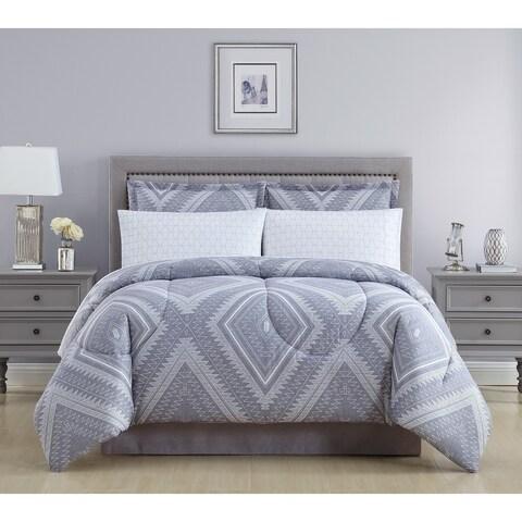 Lemon & Spice Aileen Diamond Ikat Bed In A Bag Comforter Set