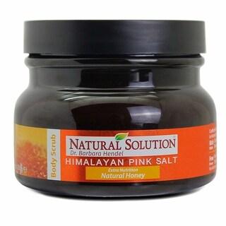 Natural Solution Himalayan Pink Salt Natural Honey 12.3-ounce Body Scrub