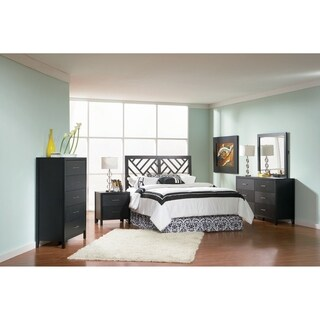 Grove Transitional Cappuccino 4-piece Queen Bedroom Set