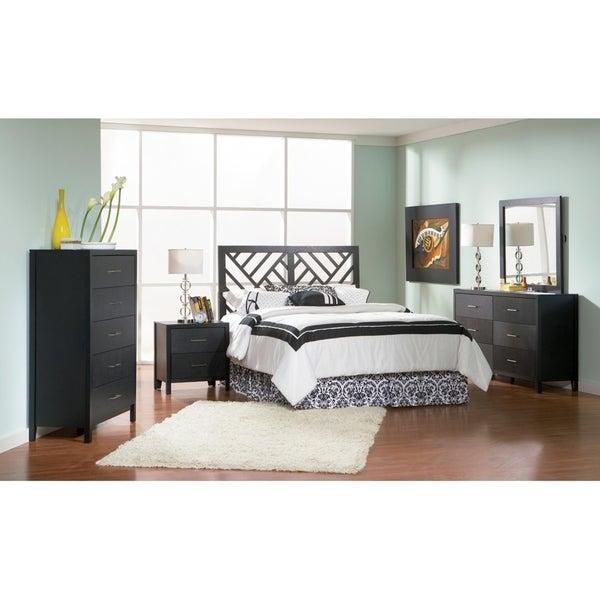 Grove Transitional Cappuccino 5-piece Queen Bedroom Set