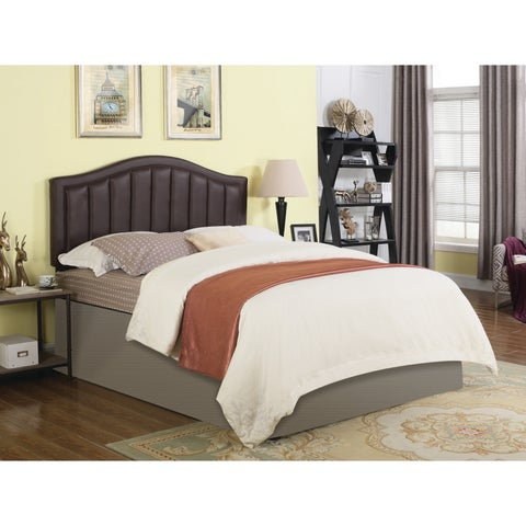 Traditional Faux Leather Upholstered Headboard