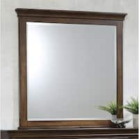 Franco Burnished Oak Dresser Mirror - Brown