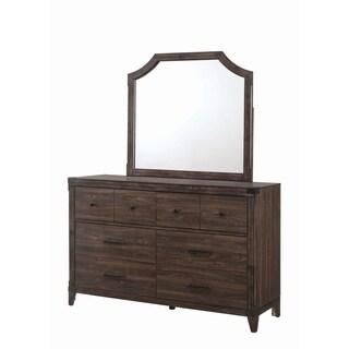 Richmond Rustic Dark Grey Oak Mirror
