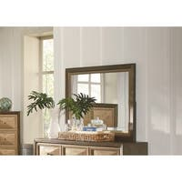 Wheatland Transitional Sage and Antique Gold Mirror