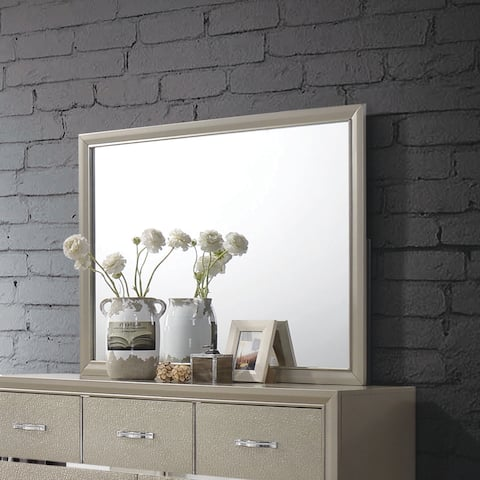 Beaumont Transitional Champagne Mirror - Cream