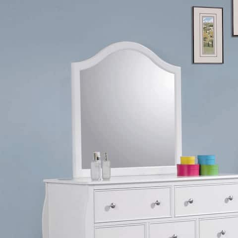 """Dominique French Country White Mirror - 33.75"""" x 1"""" x 33.75"""""""