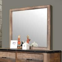Sembene Antique Multi-colored Mirror - Brown