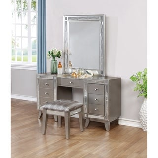 Silver Orchid Barriscale Contemporary Vanity Mirror