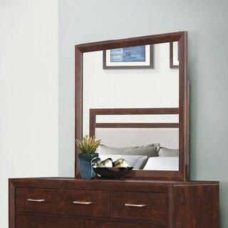 Carrington Mid-century Modern Dresser Mirror - Brown