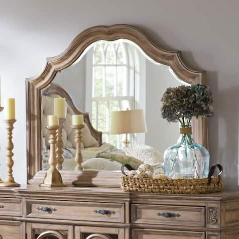 Ilana Traditional Dresser Mirror - Antique Pecan