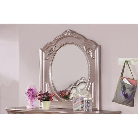 Caroline Metallic Lilac Dresser Mirror - Silver