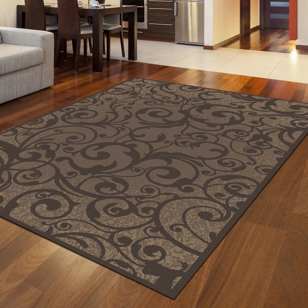Admire Home Living Plaza Contemporary Scroll Pattern Area Rug. Opens flyout.