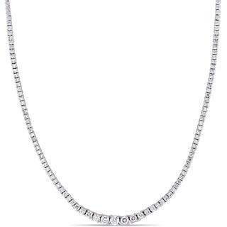 Miadora 14k White Gold 2-5/8ct TDW Diamond Graduated Tennis Necklace