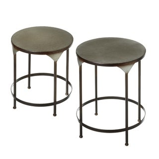 2 pc. set. Galvanized Nested Round Plant Stand.