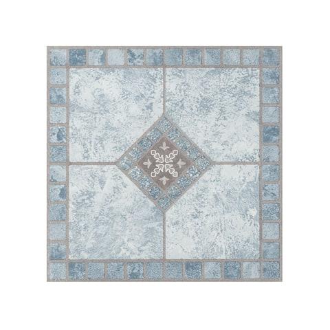 Portfolio 12x12 2.0mm Self Adhesive Vinyl Floor Tile - Blue Diamond - 9 Tiles/9 sq. ft.