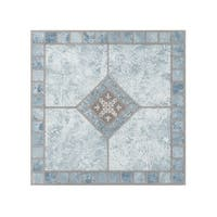 Portfolio 12x12 2.0mm Self Adhesive Vinyl Floor Tile - Blue Diamond - 9 Tiles/9 sq. ft.