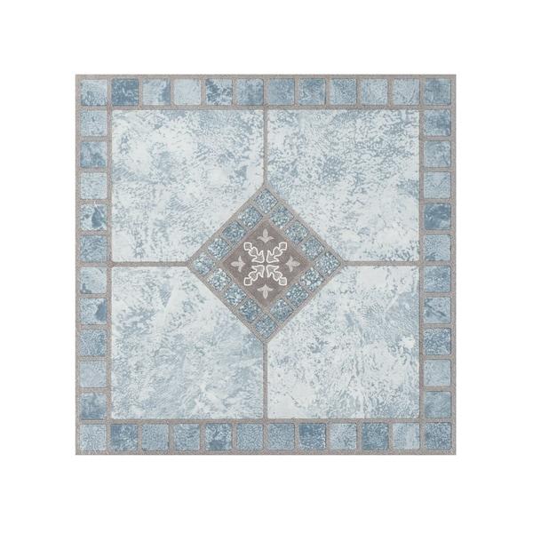 Shop Portfolio 12x12 20mm Self Adhesive Vinyl Floor Tile Blue