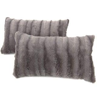 "Cheer Collection 12"" x 20"" Decorative Throw Pillows - 2 Set"