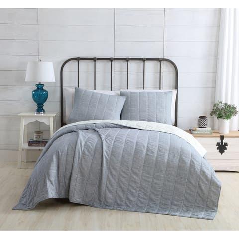 VCNY Home Faith Reversible Stripe Quilt Set