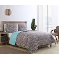 VCNY Home Chora Reversible Damask Quilt Set