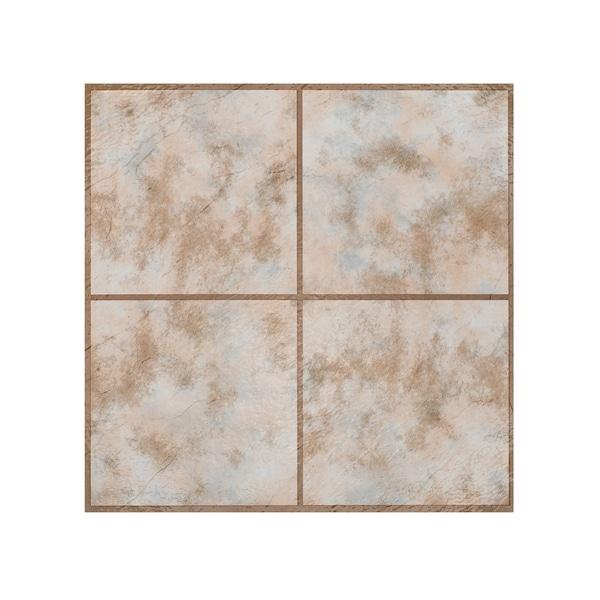 Rustic Slate Stone Self Stick Adhesive Vinyl Floor Tiles: Shop Portfolio 12x12 2.0mm Self Adhesive Vinyl Floor Tile