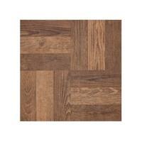 Portfolio 12x12 2.0mm Self Adhesive Vinyl Floor Tile - Walnut Parquet - 9 Tiles/9 sq. ft.