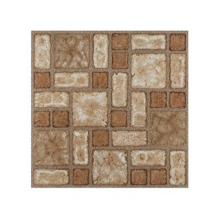 Portfolio 12x12 2.0mm Self Adhesive Vinyl Floor Tile - Cobble Mosaic - 9 Tiles/9 sq. ft.