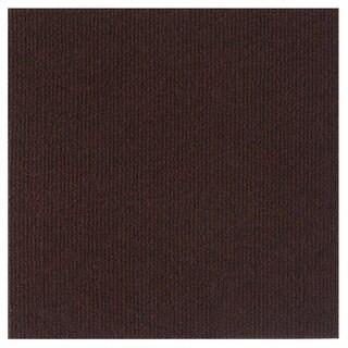 Nexus 12x12 Self Adhesive Carpet Floor Tile - 12 Tiles/12 sq. Ft. - Brown