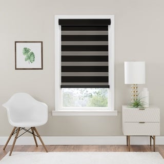 Link to Cordless Celestial Room Darkening Double Layered Shade - Black Similar Items in Blinds & Shades