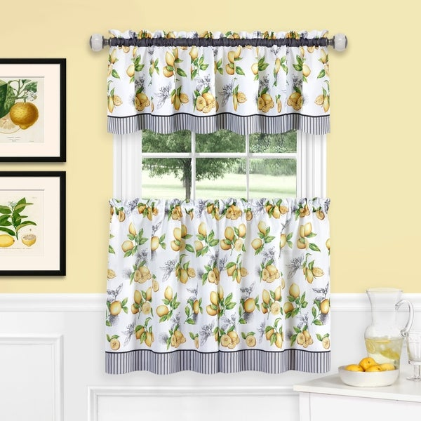 Lemon Drop Tier And Valance Window Curtain Set