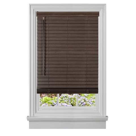 "Cordless GII Madera Falsa 2"" Faux Wood Blind - White"