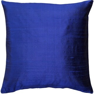 Pillow Décor - Sankara Ink Blue Silk Throw Pillow 20x20