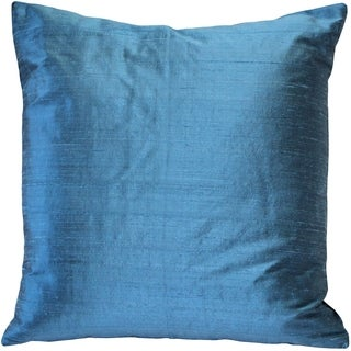 Pillow Décor - Sankara Marine Blue Silk Throw Pillow 20x20